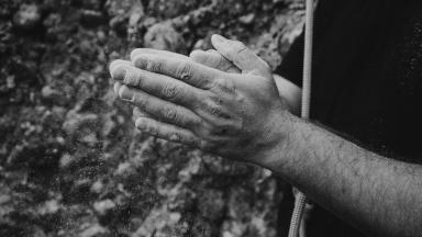 Sportklimmen handen